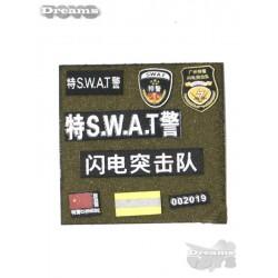 1/6 Set de parches Swat...